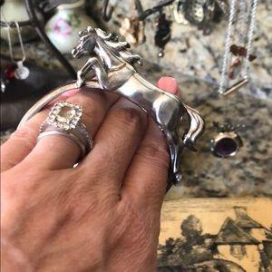 KABANA Sterling Silver 925 Large Horse Bracelet, used for sale